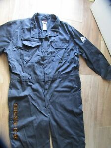 Men s Bulwark Excel fr Flame Resistant Protective Apparel Coveralls 50 Rg New