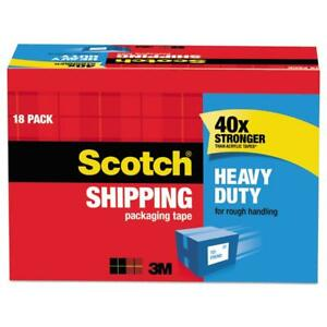 Scotch 3850 Heavy Duty Shipping Packaging Tape Cabinet Pack 18 Rolls New
