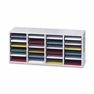 Safco Products Wood Adjustable Literature Organizer 24 Compartment 9423gr