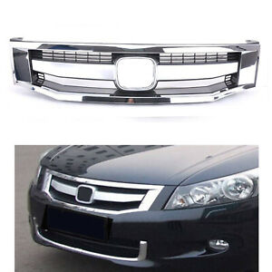 Fit For Honda Accord 2008 2010 Front Bumper Hood Chrome Car Grille Grill Mesh