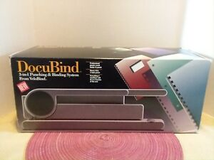 Gbc Docubind Book Binding System Model 54001 3 Functions Made In Usa New