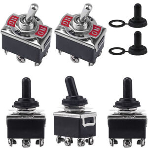 5x 3 Position 6 Terminal On off on Dpdt Toggle Switch waterproof Boot 15a 250va