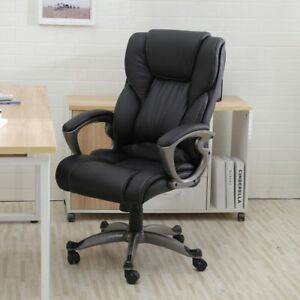 Pu Leather High Back Office Chair Executive Task Ergonomic Computer Desk Sale