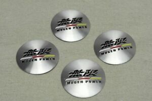 4pcs For Mugen Power Aluminum Alloy Car Wheel Center Hub Caps Stickers Emblem