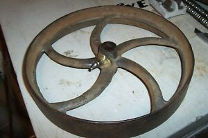 Cast Iron Original Economy Hercules Antique Hit And Miss Gas Engine Pulley Tulsa