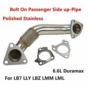 Bolt On Passenger Side Up Pipe W Gasket Fit Lb7 Lly Lbz Lmm Lml 6 6l Duramax Sl