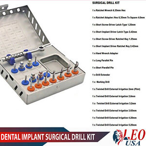 Surgical Drill Kit Drill Drivers Ratchet Dental Implants Surgical Instruments