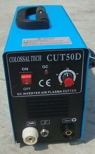 Plasma Cutter 50amp New Cut50d Inverter Dual Voltage Includes 44 Consumables