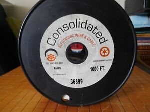70mm Consolidated Electronic 22awg White Solid Hook up Wire 1000 Ft