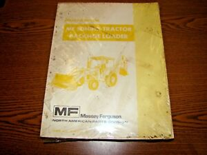 Massey Ferguson 50h 50hx Tractor Loader Backhoe Parts Manual