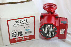 Bell Gossett 103251 1 25 Hp Nrf 22 Red Fox Circulator Pump