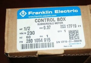 New Franklin Electric Control Box 280 1054 915 1 2hp 0 37kw Free Shipping