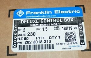 New Franklin Electric Deluxe Control Box 282 3018 310 2hp 1 5kw Free Shipping