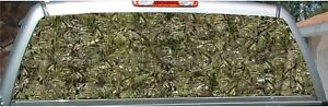 Bass Fish Camouflage Fishing Hunting Rear Window View Thru Graphic Decal