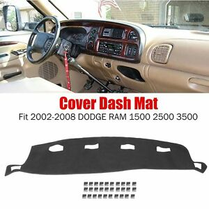 Fit 2002 2008 Dodge Ram 1500 2500 3500 Dashmat Dashboard Mat Dash Cover Carpet