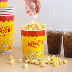 1000 pack 32 Oz Round Paper Movie Theatre Concession Popcorn Cups