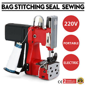 220v Industrial Bag Stitching Closer Seal Sewing Machine Red Electric Tool