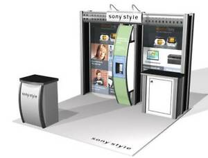 10x10 Hybrid Aluminum Trade Show Booth Exhibit Vk 1032 By Classic Exhibits