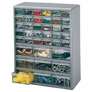 Plastic Small Parts Compartment Storage Box Organizer Cabinet Drawers Bins