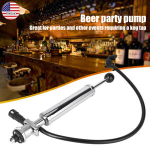 8 Inch Heavy Duty Party Picnic Beer Pump Draft Beer Keg Tap Stainless Steel Pump