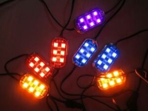 Rgb Led Kit Changes Colors 4 Pods Controller Remote All Cars Motorcycles