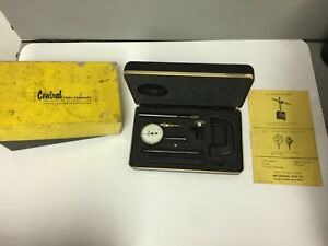 Central Tool Co 200 Universal Dial Test Indicator Set W components Original Box