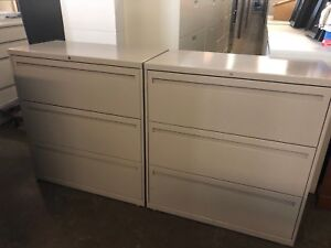 3 Drawer Lateral Size File Cabinet By Allsteel Office Furniture W lock