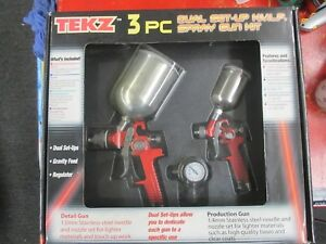 Tekz 3 Pc Dual Set Up Hvlp Spray Gun Kit 19250