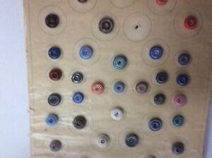 Antique China Buttons From Old Collection Estate Find