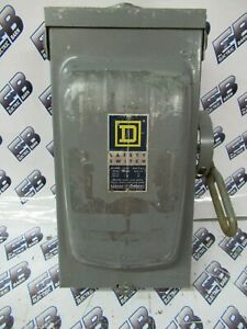 Square D H361rb Series A 30a 600v 3p3w Nema 3r Fusible Vintage Disconnect