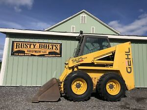 Gehl 5625 Skid Steer Loader Snow Removal Package Only 1211 Hrs Snow Blower