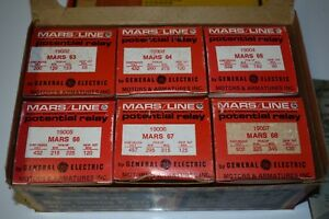 Vintage Ge Mars Potential Relay New Old Stock Lot Of 6