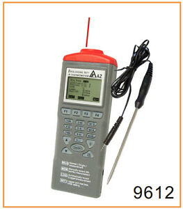Infrared Ir Laser Thermometer 40 500c Thermocouple Probe Data Logger 3in1 Rs232
