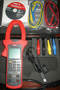 Three Phase True Rms Power Clamp Meter Power Factor Phase Angle 600kw Usb Ut232