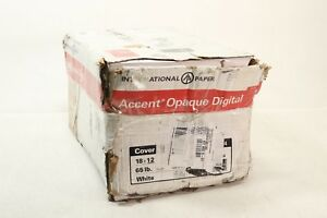 Accent Opaque Thick Cardstock Paper White Paper 65lb Cover 176 Gs Preowned