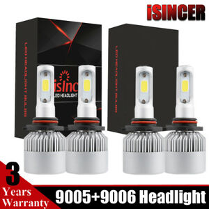 4x Combo 9005 9006 Led Headlight Kit Hb3 476000lm High Low Beam Bulbs 6000k Usa