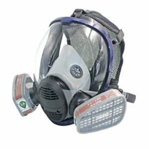 Full Face Gas Mask Anti Organic Gas Safety Mask For Industry Painting Spraying U
