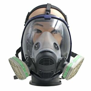 Full Face Respirator Anti Ammonia Gas Mask With Filter For Painting Spraying Ub