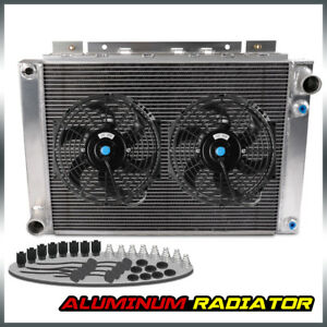 For 64 66 Ford Thunderbird Full Performance Aluminum Cooling Radiator 10 Fan