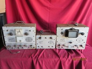 Lot Of 3 Vintage Hickok Electrical Test Equipment Models 695 691 690 Television