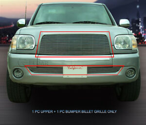 Fits 2003 2006 Toyota Tundra Billet Grille Grill Combo