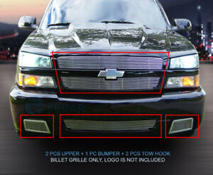 Polished Billet Grille Front Combo Insert For 2003 2006 Chevy Silverado 1500 Ss