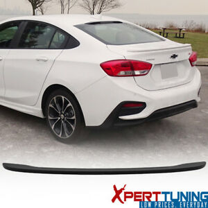 Fits 16 18 Chevy Cruze Oe Factory Matte Black Abs Trunk Spoiler Wing