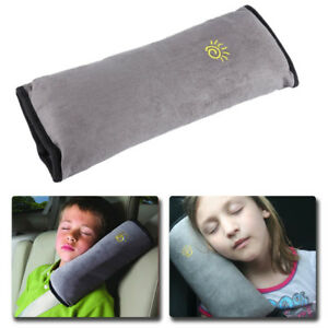 Car Kids Safety Strap Cover Harness Pillow Shoulder Seat Belt Pad Cushion Grey