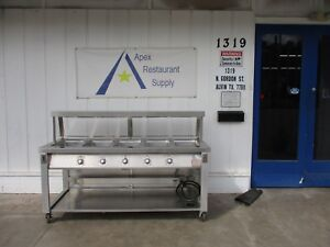 Serolift 208v 3 Phase 5 Well Steam Table W breath Guard casters 3565