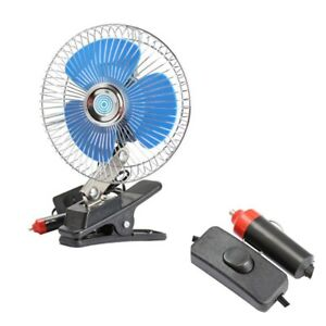 12v Vehicle Oscillating Fan Portable Dashboard Cooling Fan For Cars Boats Trucks