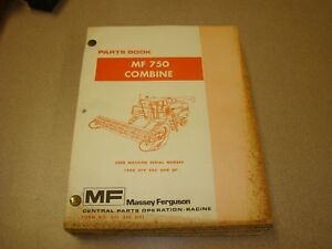 Original Massey Ferguson Mf 750 Combine Parts Book