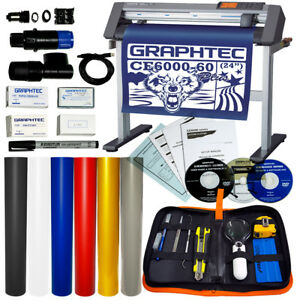 Bundle 24 Graphtec Ce6000 60 Plus Vinyl Cutter plotter Oracal Vinyl Tools