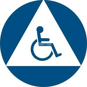 Ada Compliant All Gender Unisex Accessible Restroom Sign