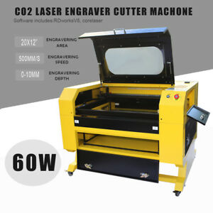 Upgraded 60w Co2 Laser Engraving Cutting Machine Engraver Device